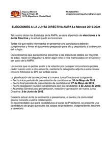 Elecciones AMPA