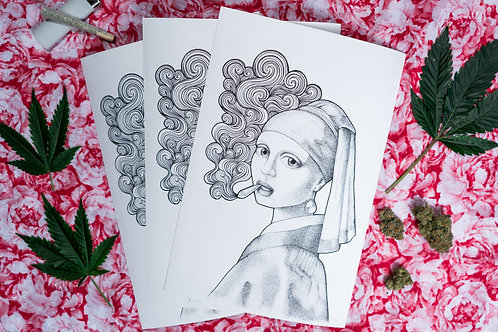 Girl with the Purps - Prints