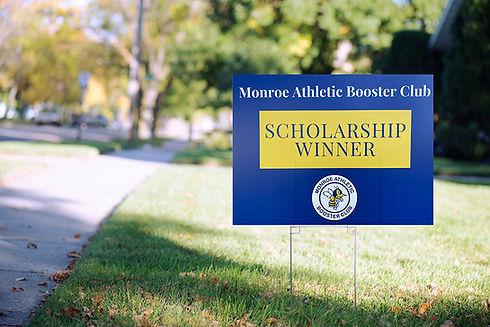 Monroe Athletic Boosters Club Scholarship Winner Sign