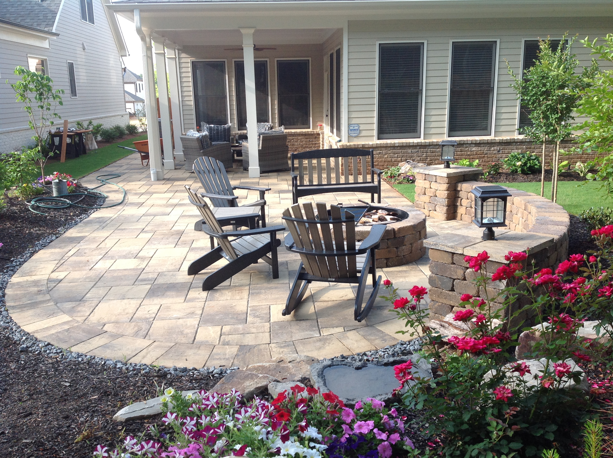 Stunning Firepit and Paver Patio