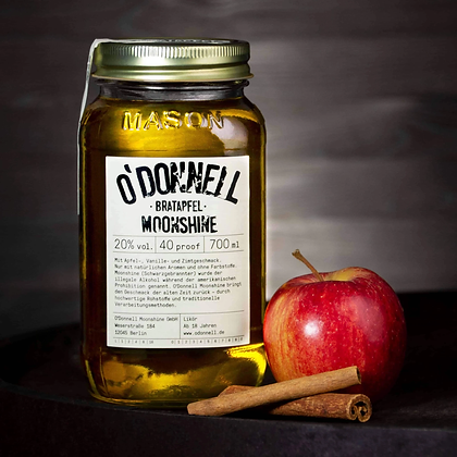 O'Donnell Moonshine - Bratapfel - Likör mit 20% vol.