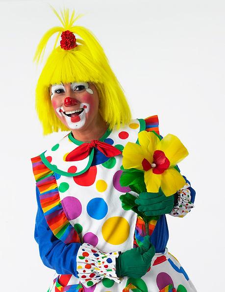Clown smiling