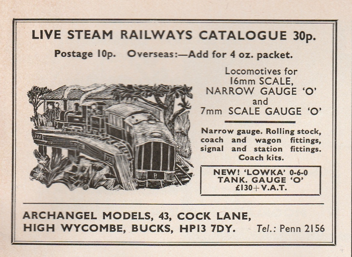 1976 advertisement as used in the Railway Modeller - prices no longer apply!