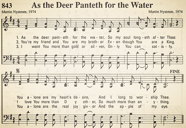843 - As the Deer Panteth for the Water