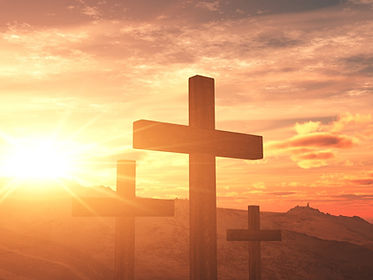 Cross Design Christian Background Settin