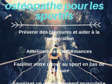 Le rôle d'un ostéopathe pour les sportifs
