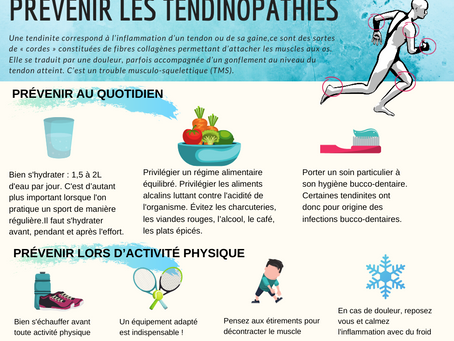 Prévenir les tendinopathies / tendinites