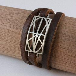 Men's Brown Leather Wrap Bracelet
