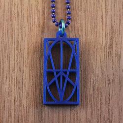 Blue Acrylic Pendant