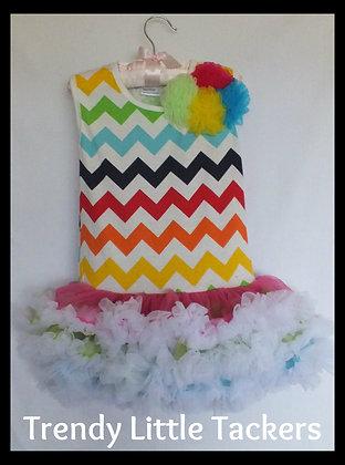 Lila Grace Chevron Ruffle Dress