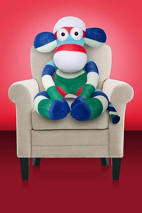 Red, Blue, Navy, Green & White Sock Monkey Kit