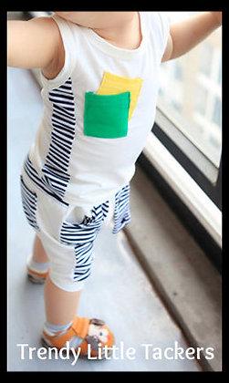 Eli Harlem Pant Set- White