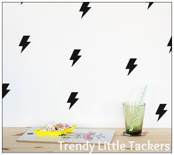 Bolt Lightning Strike Wall Decals