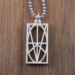 White Acrylic Pendant