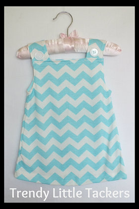 Brooke Aqua Chevron Top and Bloomer Set