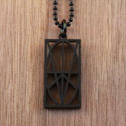 Black Acrylic Pendant
