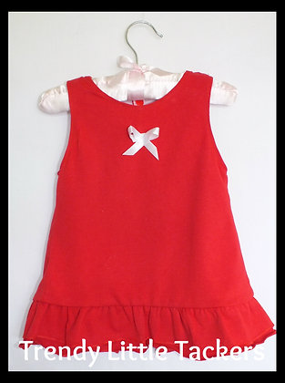 Amelia Red Swing Top and Bloomer Set
