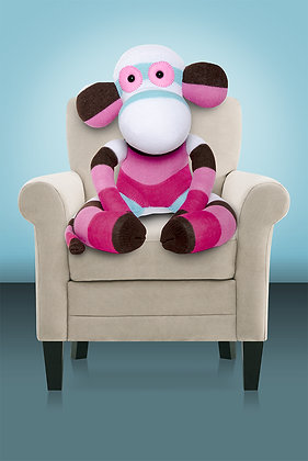 White, Pink and Brown Sock Monkey Kit