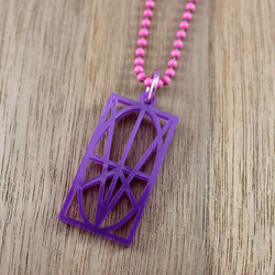 Purple Acrylic Pendant