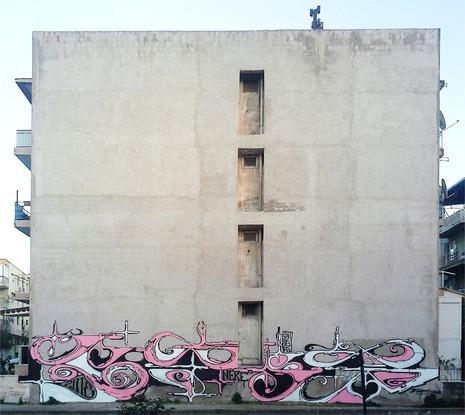 Izmir, turkey 2018. Street Art, Graffiti,  Like-sader,  Luxembourg , urban art, arabesques, graffitisader,  spraypaint.