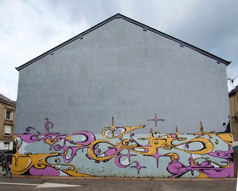 Esch sur alzette 2019. Street Art, Graffiti,  Like-sader,  Luxembourg , urban art, arabesques, graffitisader,  spraypaint,