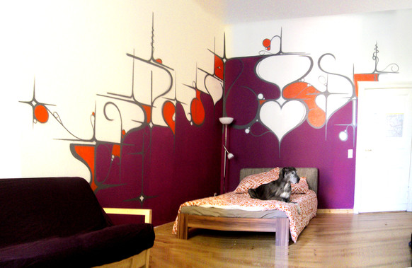Privat home, Berlin 2008. Street Art, Graffiti,  Like-sader,  Luxembourg , urban art, arabesques, graffitisader,  spraypaint.