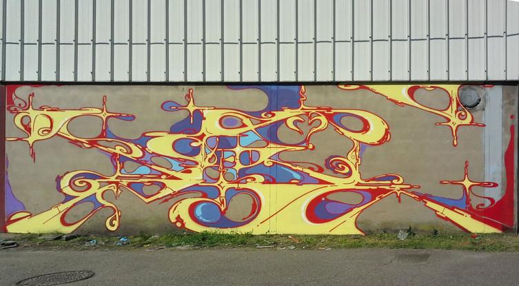 Nowhere 2018. Street Art, Graffiti,  Like-sader,  Luxembourg , urban art, arabesques, graffitisader,  spraypaint,
