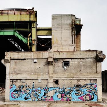 Abandoned place, Esch sur alzette 2019. Street Art, Graffiti,  Like-sader,  Luxembourg , urban art, arabesques, graffitisader,  spraypaint,