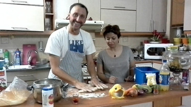 Teaching cooking gnocchis, Shiraz, Iran