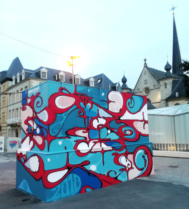 Place Guillaume. Luxembourg ville 2018. Street Art, Graffiti,  Like-sader,  Luxembourg , urban art, arabesques, graffitisader,  spraypaint,