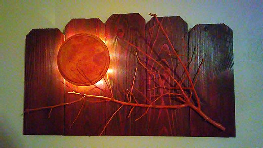 Home Decor | United | Rustic Legends | Lighted Wood Wall Art