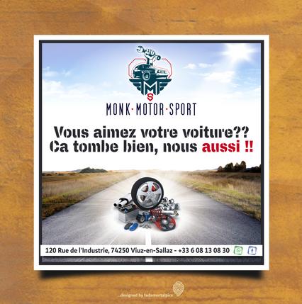 Flyer by fadamentalpics - Monk Motor Spo