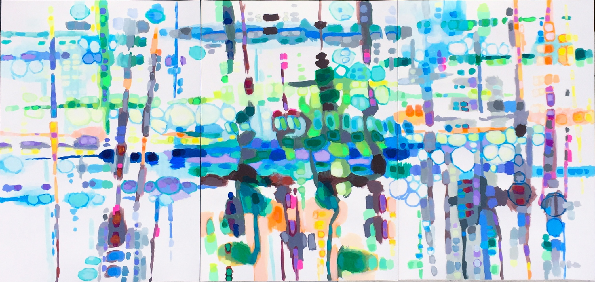 mixed media on paper, 210x100cm