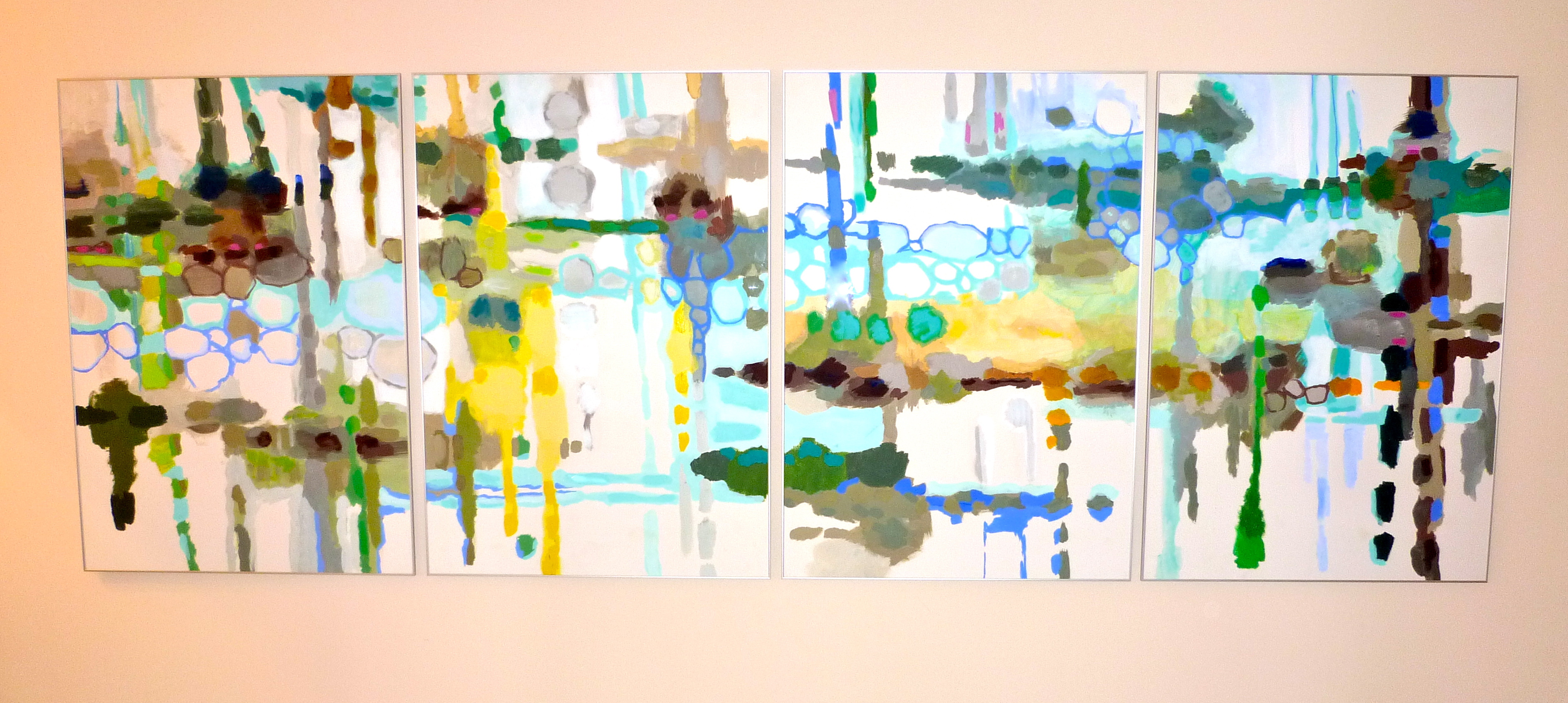 mixed media on paper, 280x100cm