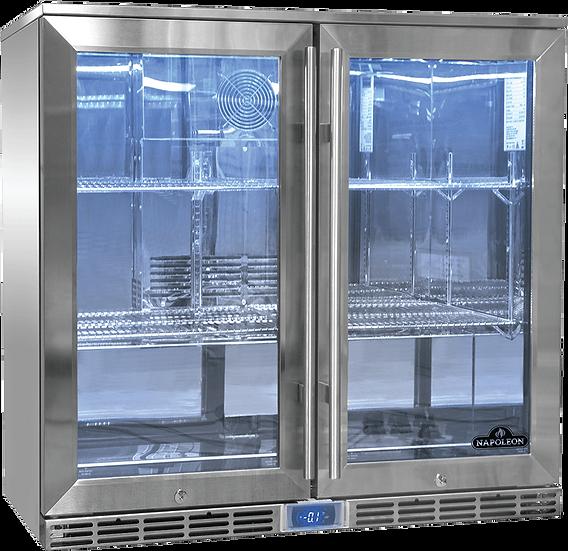 Napoleon Outdoor Fridge, 210L, Double Door Glass (NFR2100DGL-GB)
