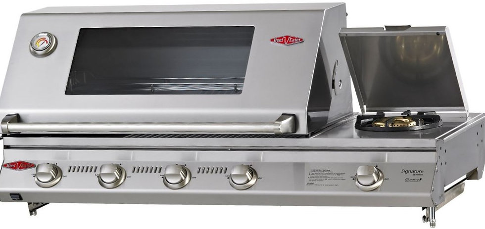 BeefEater 4+1 Burner SL4000S 973mm Built-in Gas Grill with Side Burner (BS31550)