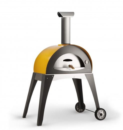 Alfa Ciao Wood Fired Oven with Cart in Yellow (FXCM-LGIA)