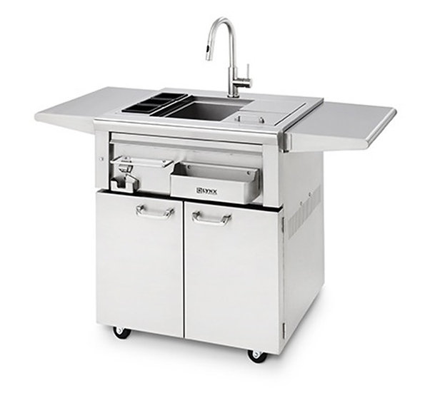 Lynx Professional Freestanding Cocktail Station on Stainless Steel Cart (CCS30F)