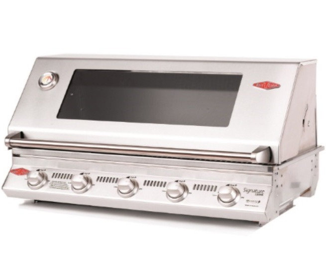 BeefEater 5 Burner S3000S Built-in Gas Grill (Cast Iron Cook Pack) BS12850