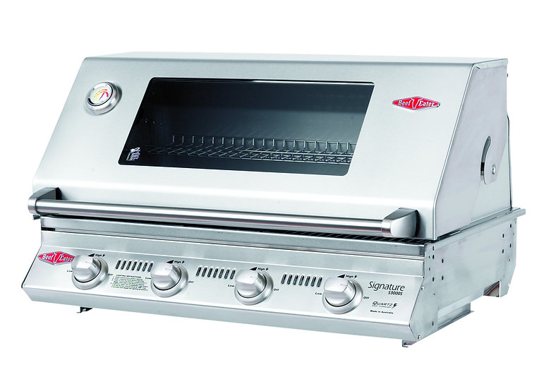 BeefEater 4 Burner S3000S Built-in Gas Grill (Cast Iron Cook Pack) BS12840