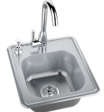 Sunstone Drop in Single Sink w/Hot & Cold Water Faucet (A-SS17)