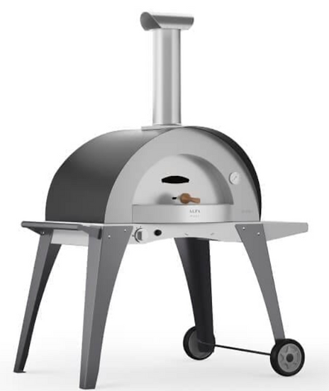 Alfa Forno Domo Gas Fired Oven with Cart in Grey (FXDOMO-GGRI)