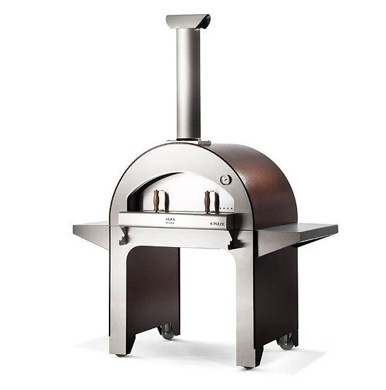Alfa 4 Pizze Wood-Fired Oven with Base In Diamond Grey