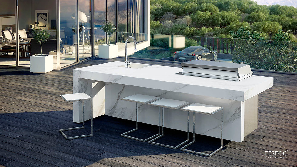 FESFOC KAUAI Island - Elite Line Gas Grill with Sink
