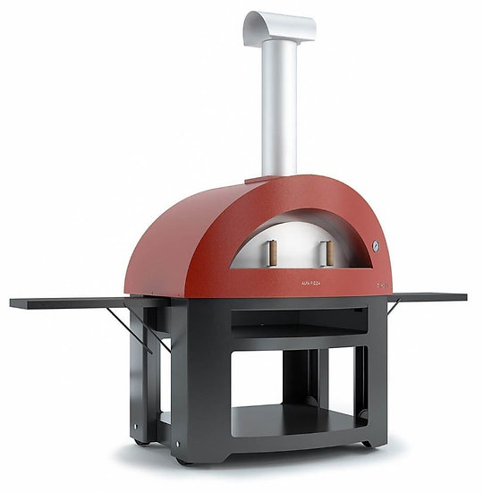 Alfa Allegro Wood-Fired Oven with Base in Red
