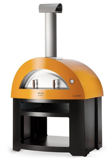 Alfa Allegro Wood-Fired Oven with Base in Yellow (FXALLE-LGIA)