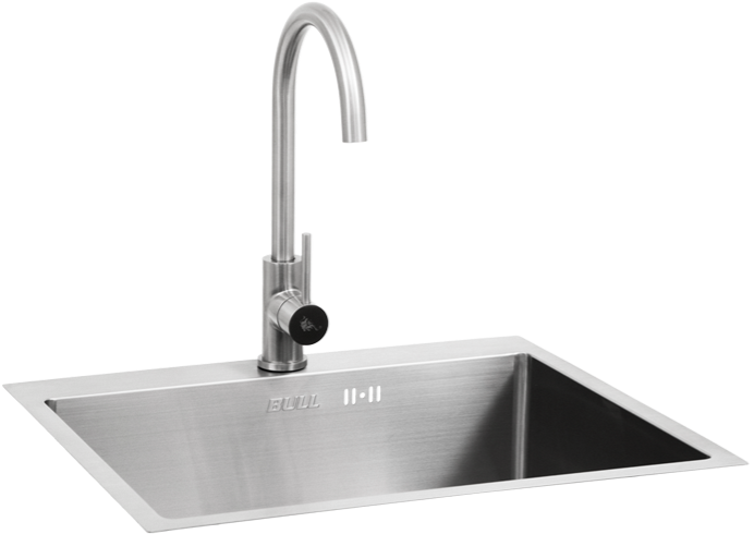 Bull Premium Stainless Steel Sink with Faucet - Ex Large (22392)