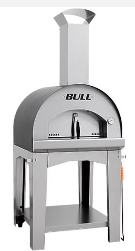 Bull Large Wood-Fired Pizza Oven With Cart 60x60cm (66025)