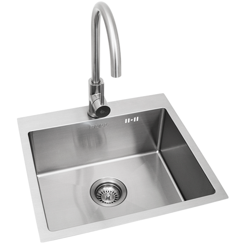Bull Premium Stainless Steel Sink with Faucet - Large (22391)