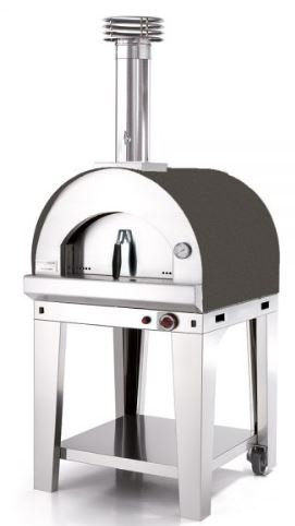 Fontana Mangiafuoco Gas Fired Oven with Trolley(Mangiafuoco_Cart_Gas_Rosso/Anth)